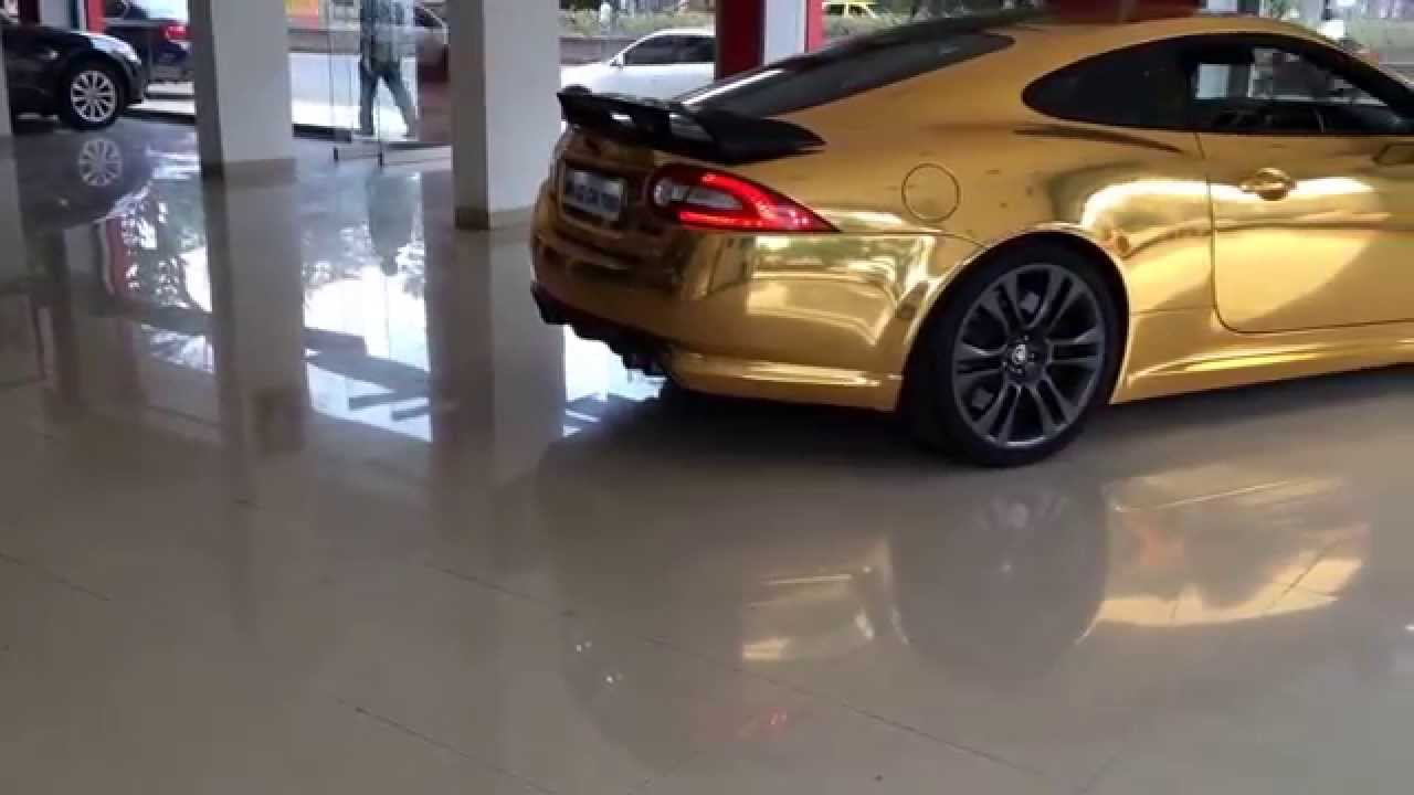 gold chrome jaguar xkr youtube. Black Bedroom Furniture Sets. Home Design Ideas