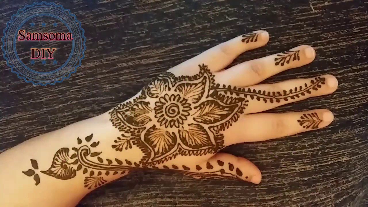 1 Samsoma Diy Youtube نقش حناء Hand Henna Henna Hand Tattoo Hand Tattoos