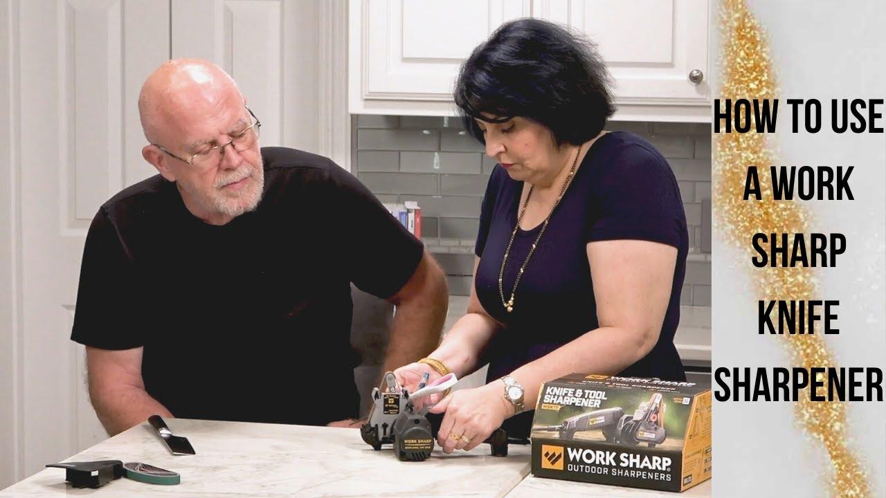 Work Sharp Knife Sharpener - How To Sharpen Kitchen Knives