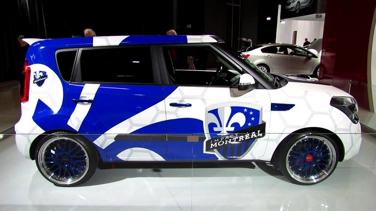 2011 Kia Soul >> 2013 KIA Soul Custom - Impact de Montreal - Exterior Walkaround - 2013 Montreal Auto Show - YouTube
