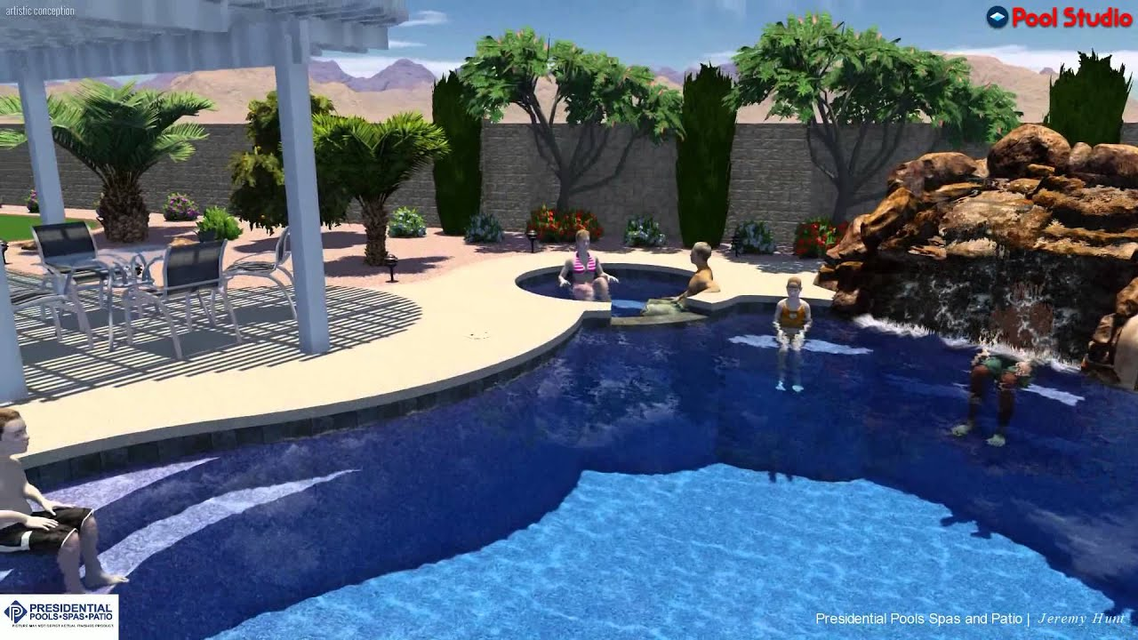 Awesome Parsons Family Backyard Pool Design Concept By Jeremy Hunt At Presidential  Pools, Spas U0026 Patio