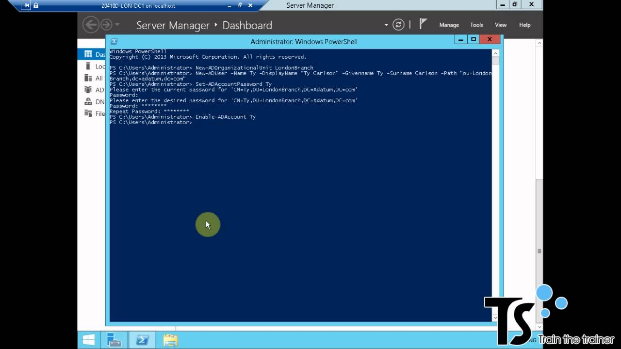 How to create a user in Windows 64