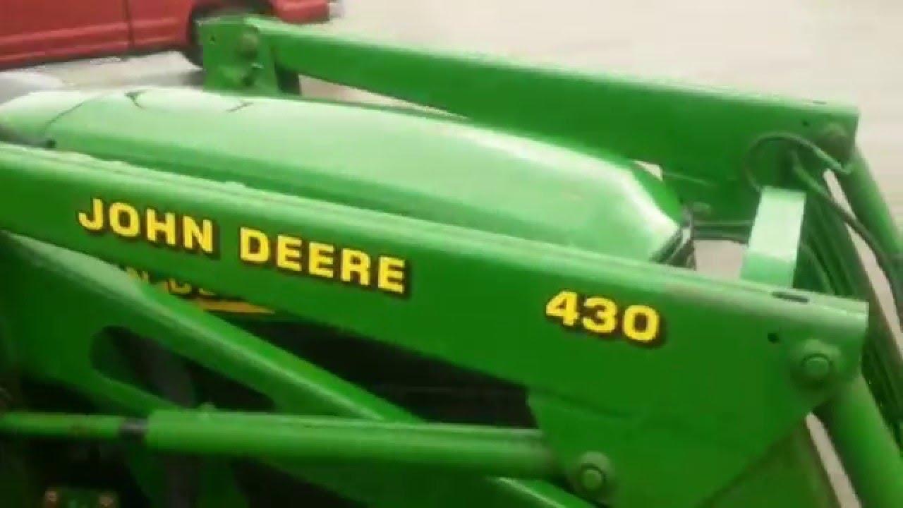 John Deere 4300 Tractor Loader Backhoe Youtube