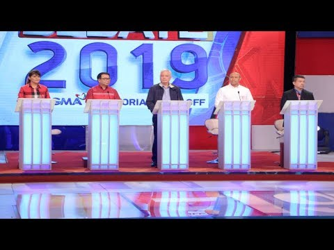 #Debate2019: Alejano, Alunan, Colmenares, Marcos, Pimentel | Round 1