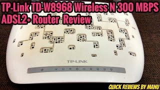 TP-LINK TD-W8968 300MBPS WIRELESS N ADSL2 Modem Router Review