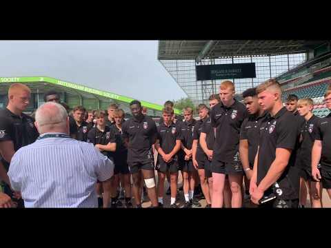 Tigers academy pre-season visit to Welford Road