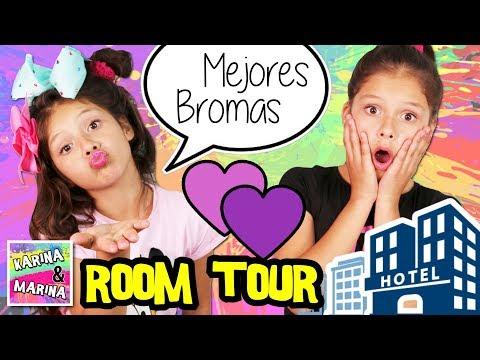 🌈 ROOM TOUR  y BROMAS DIVERTIDAS y GRACIOSAS 😂 en un HOTEL ✨ Las MEJORES BROMAS para los niños
