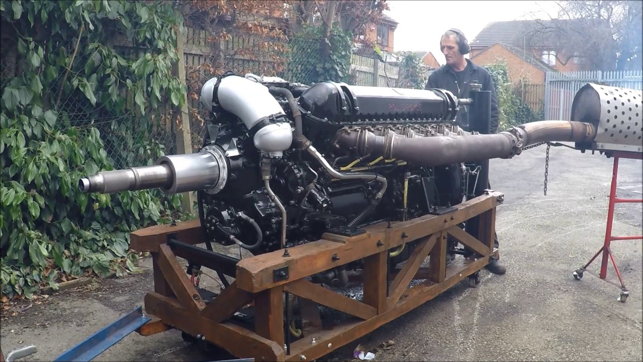 Rolls-Royce Griffon 58 After Changing Piston Rings