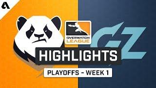 Chengdu Hunters vs Guangzhou Charge   Playoffs Week 1 - Overwatch League S2 Highlights