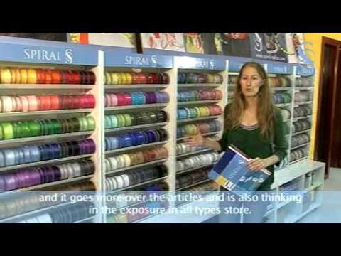 Spiral expositores detallista mercer a retail haberdashery display stands youtube - Mobiliario para merceria ...