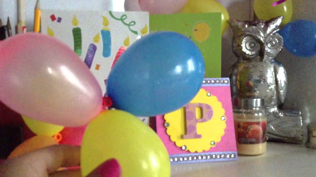 Decorating your room for your birthday YouTube