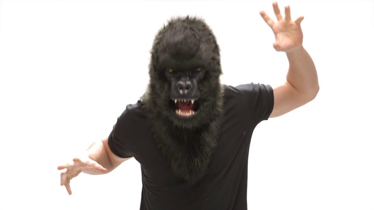 Máscara de Gorila con mandíbula móvil | ¡SÚPER REALISTA!