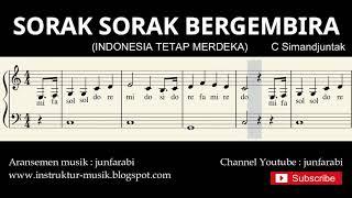 not balok indonesia tetap merdeka - lagu wajib nasional - doremi / solmisasi