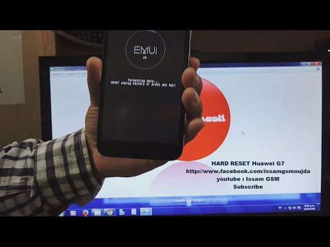How to Hard Reset Huawei Ascend G7 iF Forgot Password