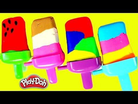 PALETAS DE PLASTILINA PLAY DOH| PLAY DOH RAINBOW POPSICLES|mundo de juguetes