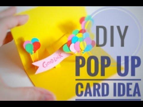 Diy 3d Pop Up Birthday Greetings Card Idea 3 Youtube