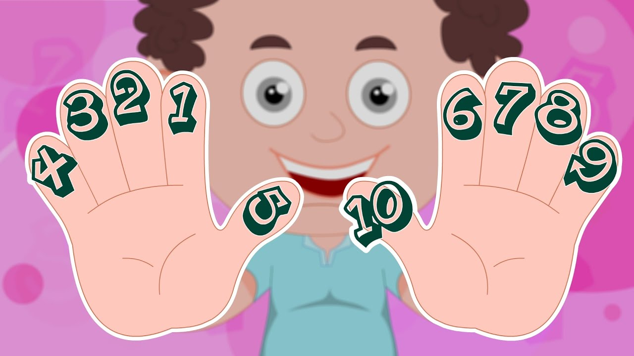 Cartoon Characters 3 Fingers : Schoolies counting on your fingers numbers song