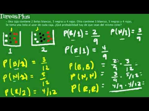 Problema probabilidad con bolas de colores - YouTube