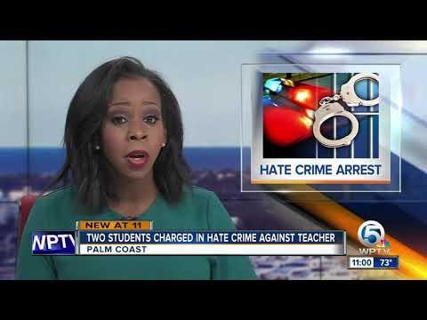 Two Florida student charged with hate crime after threats against black teacher