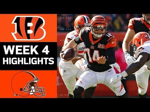 Bengals vs. Browns   NFL Week 4 Game Highlights