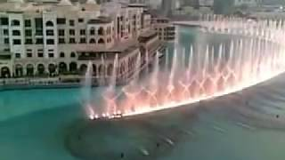 Water Fountain Dance near Burj Khalifa in Dubai