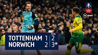 Tottenham v Norwich (1-1, 2-3 on Pens) | FA Cup Highlights