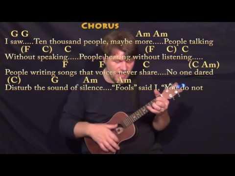 The Sound of Silence (Simon & Garfunkel) Ukulele Cover Lesson in Am with Chords/Lyrics