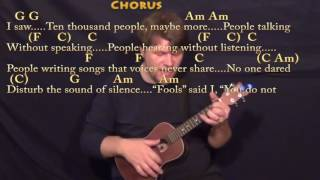 The Sound of Silence (Simon & Garfunkel) Ukulele Cover Lesson in Am with Chords/Lyrics