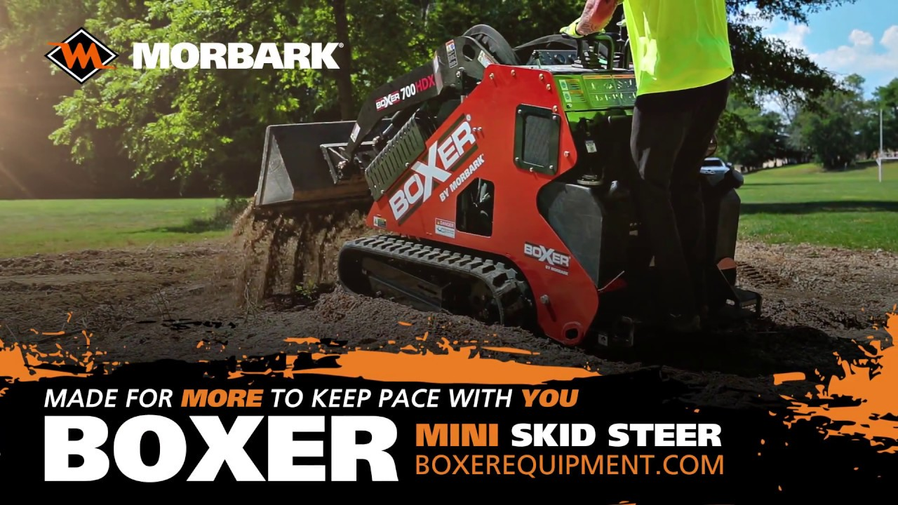 Boxer Equipment 600HD & 700HDX Mini Skid Steer Features Walk-Around