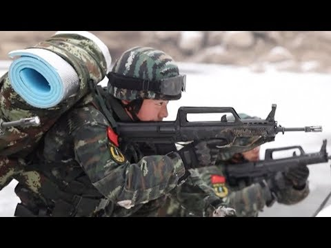 East China police conduct woodland anti-terror drill