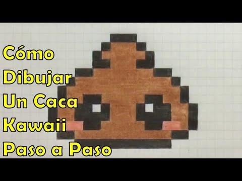 Cómo Dibujar Un Caca Kawaii En 8 Bit O Pixel Art Tutorial Paso A Paso