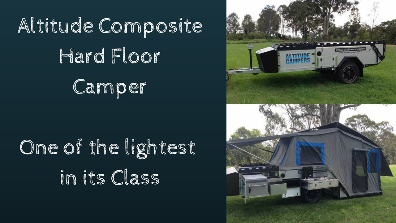 Hard Floor Camper Trailer Set Up Youtube
