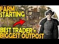 BIGGEST OUTPOST + BEST TRADER! - STARTING the FARM - 7 Days to Die Alpha 16 Gameplay Part 45 (S2)