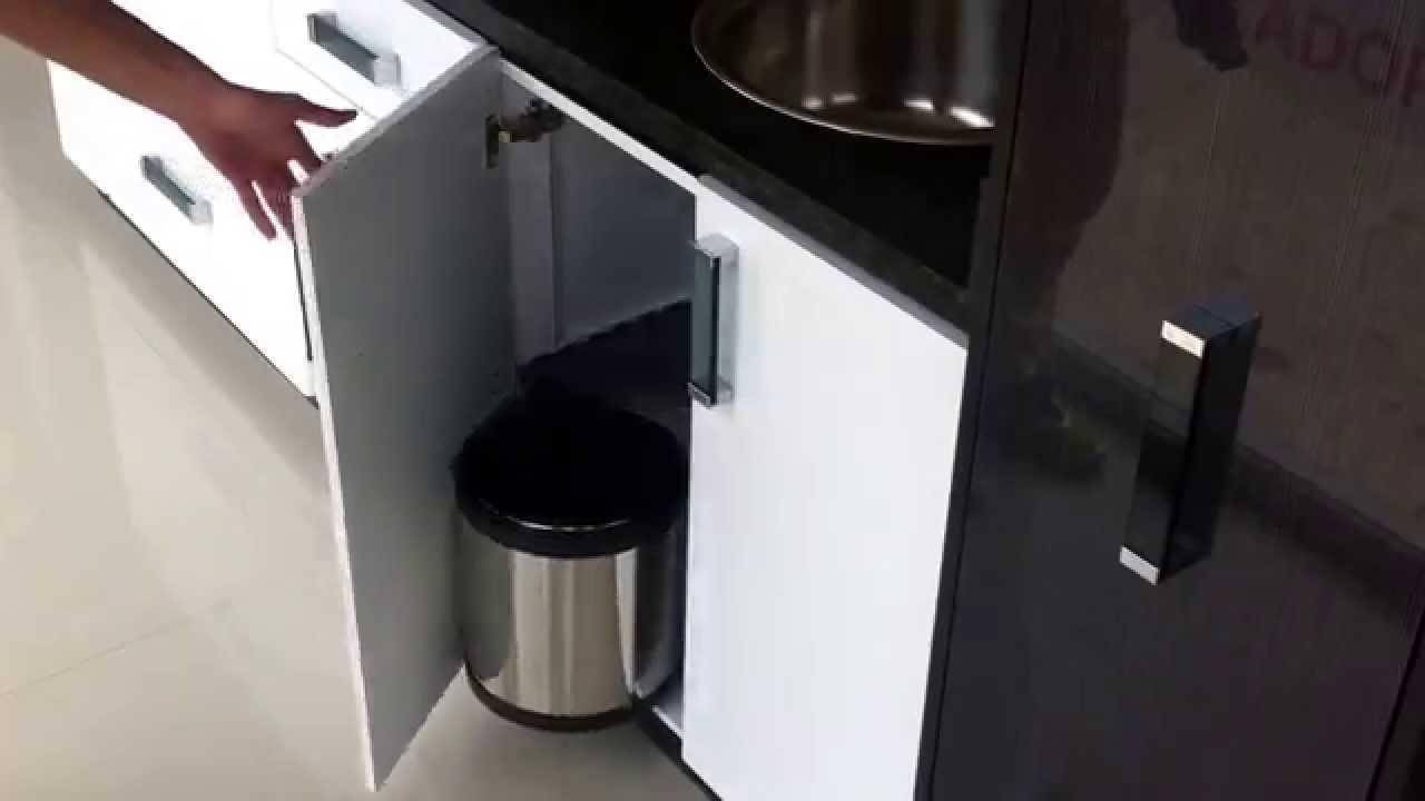 Tobo o cesta papelera empotrable de acero inoxidable youtube for Pilas de acero inoxidable