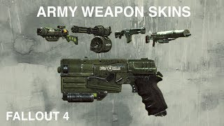 Army Weapon Skins | Fallout 4 Creation Club Mods