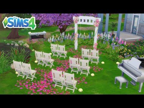 DECORANDO O LUGAR DO CASAMENTO | The Sims 4 Estações #26 thumbnail