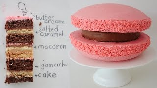 GIANT MACARON CAKE How To Cook That Ann Reardon