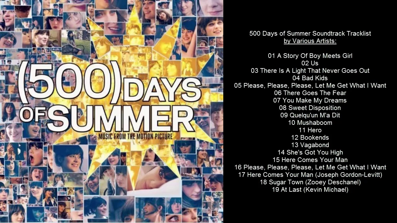 500 Days Of Summer Soundtrack Tracklist By Various Artists Youtube