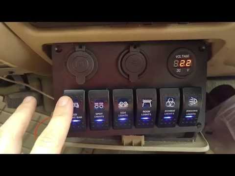 ~Review~ TEQStone 6-Switch LED Light Bar Panel with Volt Meter USB & Cig Lighter 4 Truck, Jeep, Boat