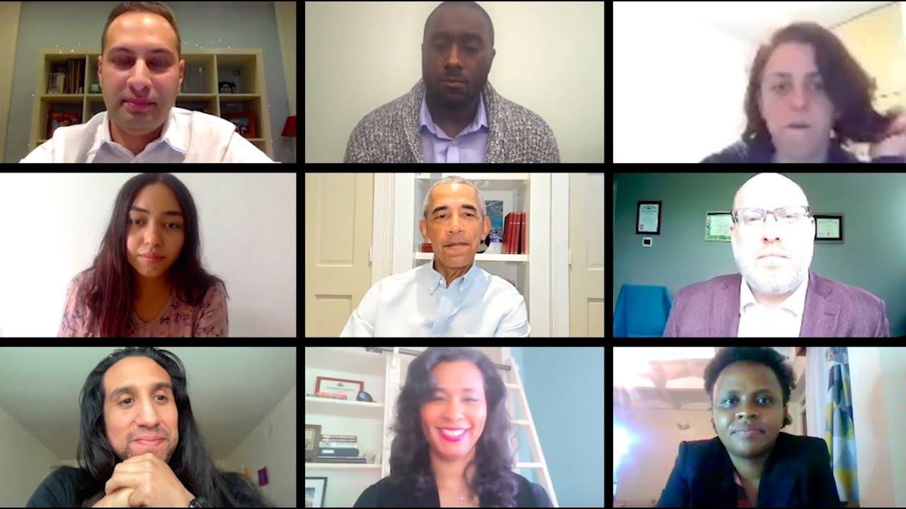 President Obama hears from 2019 Obama Foundation Fellows