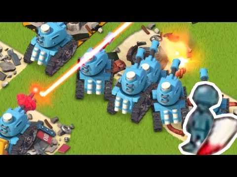 LIFE LEECH TANKS and Lazortrons in Boom Beach!