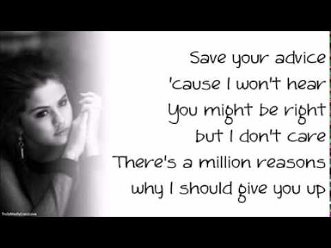 Selena Gomez   Heart Wants What It Wants Paroles, Lyrics