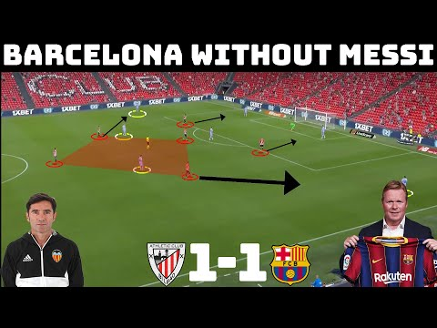 Tactical Analysis : Athletic Club 1 - 1 Barcelona   Barca Tactics In The Post Messi Era  