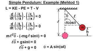 Physics - Adv. Mechanics: Lagrangian Mech. (6 of 25) Simple Harmonic Motion: Method 1
