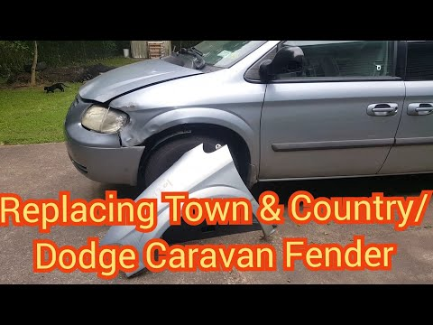 How to replace a fender on a 2001-2007 chrysler town & country/dodge caravan