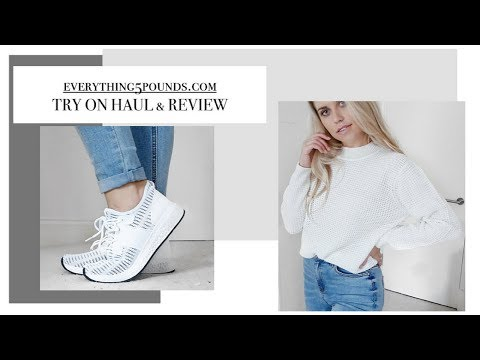 HUGE EVERYTHING5POUNDS £5 TRY ON HAUL AND REVIEW OCTOBER 2017 | Freya Farrington