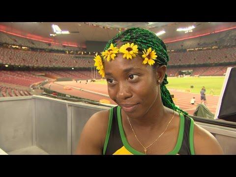 WCH 2015 Beijing - Shelly Ann Fraser Pryce JAM 100m Final Gold