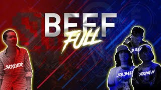 『2015 BEEF』 SKYLER VS. YOUNG H x SOL'BASS x B RAY (FULL)「Lyrics」