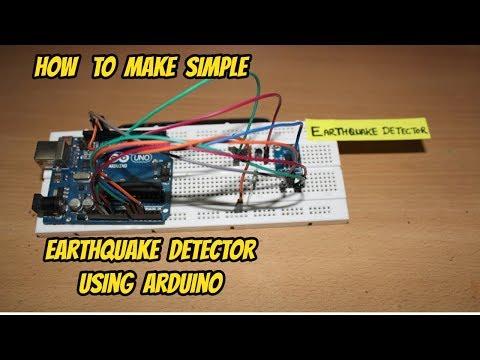 How to make simple earthquake detector using arduino