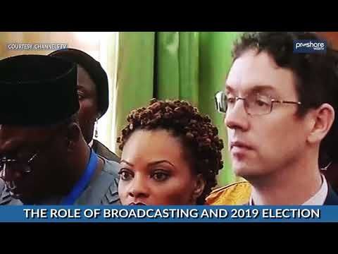 INEC Chairman Speaks on the Role of Broadcasting & 2019 elections